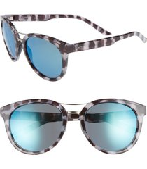 women's smith bridgetown 54mm chromapop(tm) polarized sunglasses - chocolate tortoise/ blue