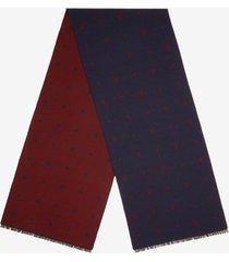 b jacquard scarf blue 1