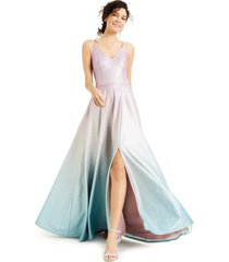 speechless juniors' ombre glitter gown, created for macy's