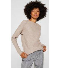 sweater con lana taupe esprit