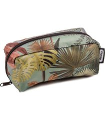 cosmetiquera estampado tropical citybags multicolor