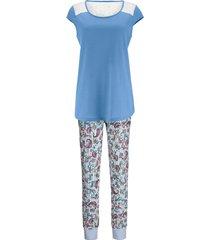 pyjama simone azuur/wit/pink