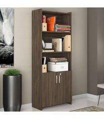 armário para escritório 2 portas 56118 nogal trend- notavel