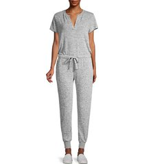 textured cinch-tie jumpsuit