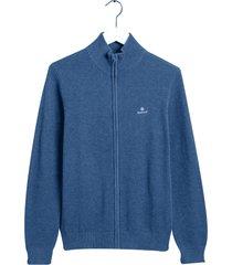 gant vest rits katoen regular fit blauw 8030524