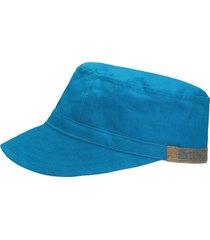 gorra azul en lino natural azul intenso