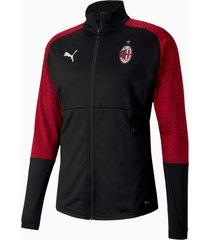 ac milan home stadium voetbaljack voor heren, rood/zwart, maat l | puma
