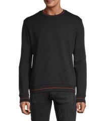 hugo hugo boss men's stretch-cotton sweatshirt - black - size s