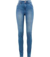 jeans  super elasticizzato push-up a vita alta (blu) - bpc bonprix collection