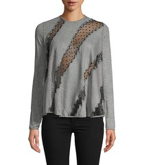 pindot lace panel top