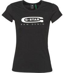 t-shirt korte mouw g-star raw graphic 20 slim r t wmn ss