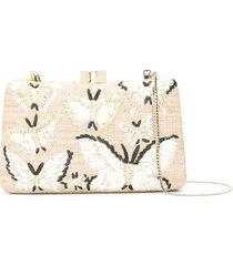 serpui charlotte straw clutch bag - neutrals