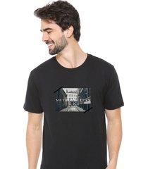 camiseta sandro clothing memory preto - preto - masculino - dafiti
