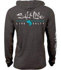 salt life men's signature upf performance graphic hoodie