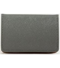 katy covered metal card case - light gray