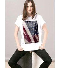 camiseta bandup! bandup far cry 5 cult flag white feminina