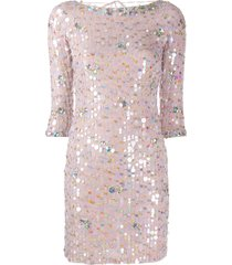blumarine paillette cocktail dress - pink