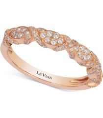le vian braided diamond band (1/3 ct. t.w.) in 14k rose gold