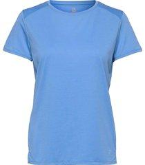 outline summer tee w marina t-shirts & tops short-sleeved blå salomon