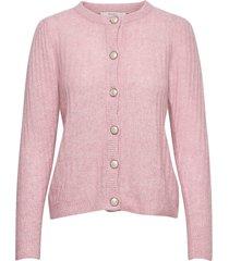 alpiagz puff cardigan stickad tröja cardigan rosa gestuz