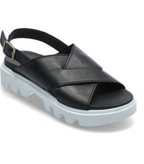 piave 1a shoes summer shoes flat sandals svart marc o'polo