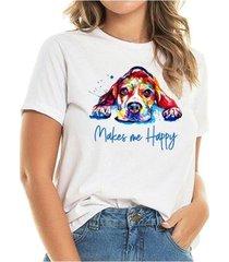 t-shirt beagle happy buddies feminina - feminino