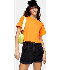 orange raglan crop t-shirt - orange