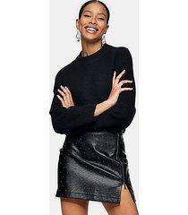 black super soft dolman sleeve knitted sweater - black