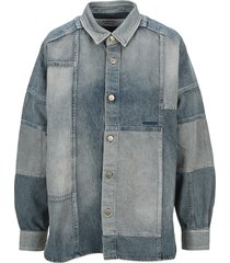 ambush patchwork denim shirt
