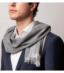 sciarpa da uomo, maalbi, cashmere lino grigia, primavera estate | lanieri