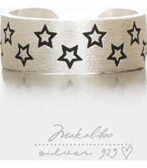 makaliboo stars obrączka - srebro 925 -box