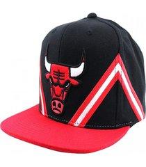 gorro nba bulls stripe rojo mitchell and ness
