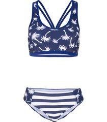 bikini con bustier minimizer (blu) - bpc bonprix collection