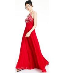 b darlin juniors' beaded halter gown