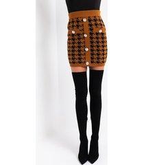 akira high maintenance houndstooth mini skirt