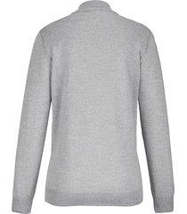 trui met staande kraag, model gudrun van peter hahn grijs