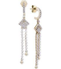 wrapped in love diamond (1/2 ct. t.w.) geometric chandelier earrings in 14k gold, created for macy's
