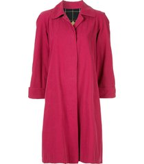 burberry pre-owned long sleeve coat - pink
