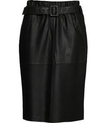 skirt w belt svart depeche