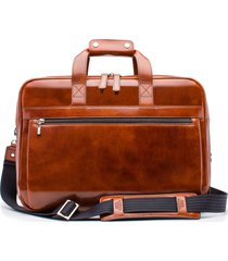 men's bosca stringer leather briefcase - brown
