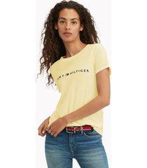 tommy hilfiger women's essential logo t-shirt double cream - l