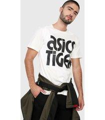 camiseta blanco hueso-negro asics sleeve t