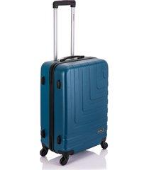 mala viagem primicia malaga abs rodas 360â° pequena - azul - azul - dafiti