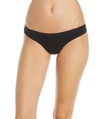 women's madewell softest stretch modal thong, size medium - black