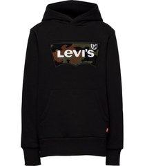 chenille batwing hoodie hoodie trui zwart levi's