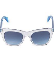 logo rectangular sunglasses