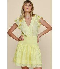 poupette st barth rachel mini dress yellow
