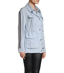 striped sleeve utility field jacket