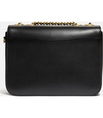 coach women's refined calf leather madison bag - black