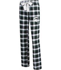 concepts sport women's michigan state spartans piedmont flannel pajama pants